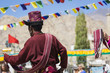 Unidentified artists in Ladakhi costumes at the Ladakh Festival, Leh, India.