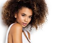 Portrait Of Beautiful Black Wo...