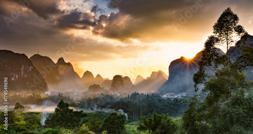 Foto op Canvas Guilin Yangshuo