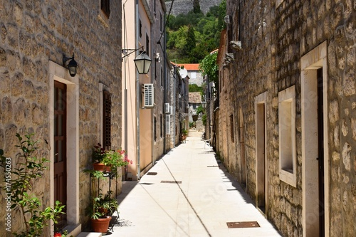 Plakat romantyczna wioska w Chorwacji