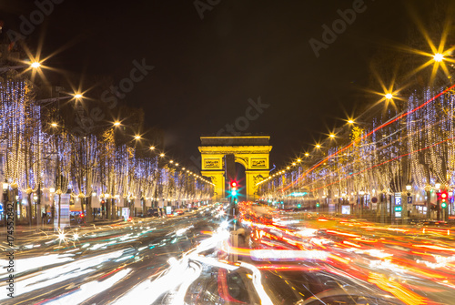 Arch of Triumph and Champs Elysees, Paris