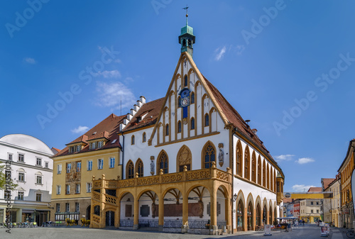 Town hall in Amberg, Germany Canvas Print