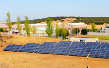 Solar Panels In An Industrial ...