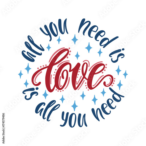Stampa su Tela  1554457 All you need is love