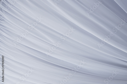 Fototapeta Soft tulle abstract fabric background.