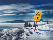 Prohibition Sign For Skiing