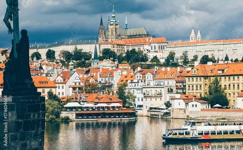 Plakat Stare miasto Praga, Mala strana, Czezh republiki
