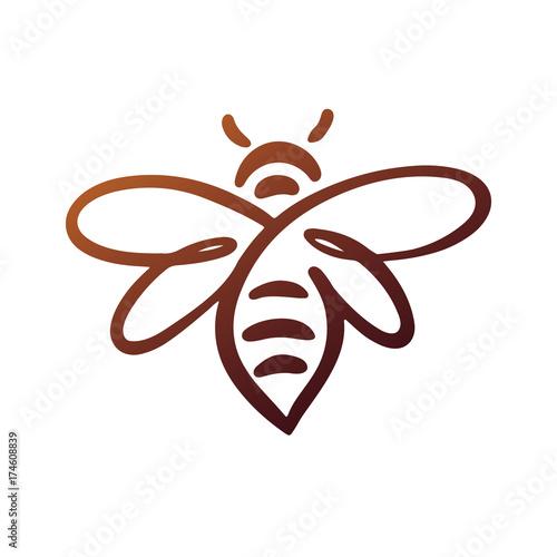 Bee Logo, bee vector, honey Fototapeta