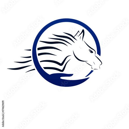 Fototapety, obrazy: fast horse logo