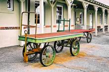 Luggage Carts At Train Depot
