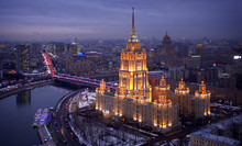 Iconic Moscow Hotel In Winter