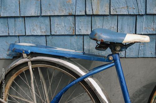 Deurstickers Fiets Vintage Bike Seat
