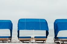 Empty Cabanas At The Beach