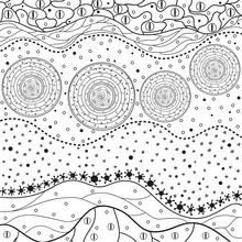 Mandala. Zentangle. Hand Drawn...