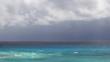 Stormy weather on caribbean beach