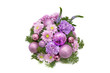 Bright buketny composition from fresh flowers, the white isolated background