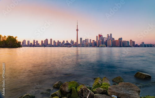 Fototapeta Toronto Skyline o zachodzie słońca