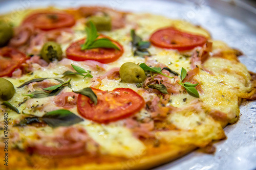 Poster Pays d Europe pizza rustic brazil