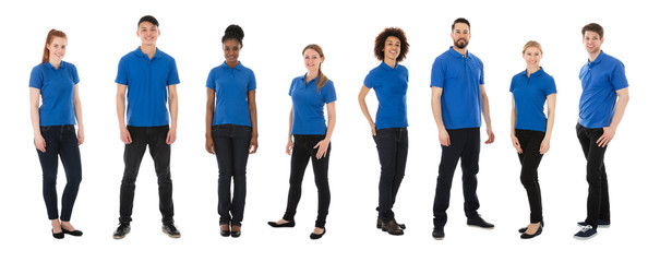 Portrait Of Multiracial Janitors