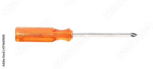 Canvas Print screwdriver isolated on white background.