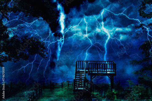 Poster Onweer storm