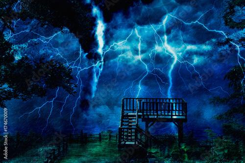 Fotobehang Onweer storm