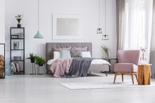 Woman Bedroom With Pastel Accents
