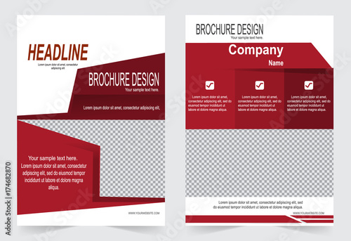 Red Brochure Template Flyer Design Abstract Template For Annual