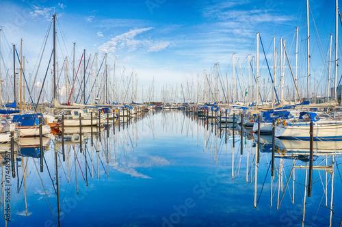 Jachthafen in Heiligenhafen an der Ostsee