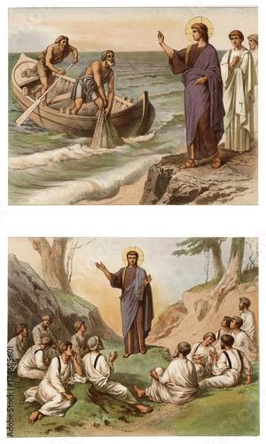 Fotografie, Obraz Jesus calls the first disciples.