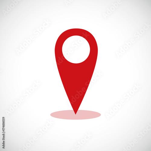 Standortbestimmung Pin Rot Kaufen Sie Diese Vektorgrafik Und