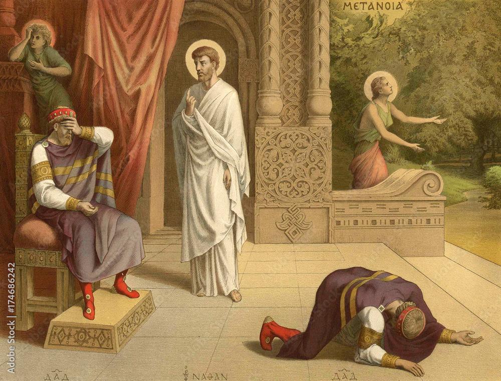 Fototapety, obrazy: The rebuke of king David.
