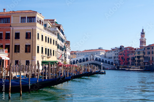 Plakat Wenecja Włochy Grand canal Ponte di Rialto