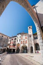 Serravalle Buildings In Vittorio Veneto, Italy