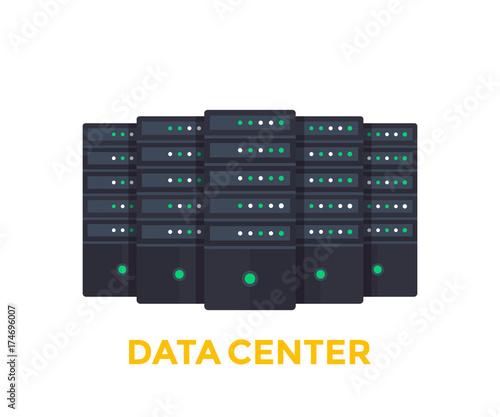servers, big data center vector illustration Fototapete