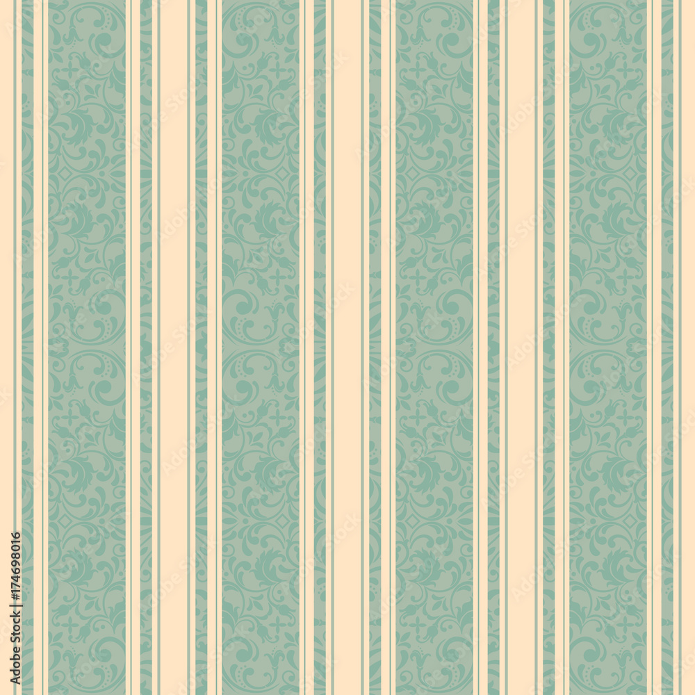 Striped background . Vector line art seamless border for design template. Decorative element for design in Eastern style. Vintage pattern for invitations, greeting cards, wallpaper, linoleum, textile.