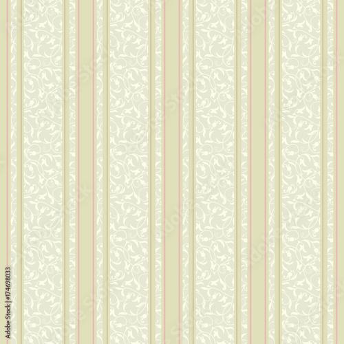 Fototapeta Striped Background Vector Line Art Seamless Border For Design Template Decorative Element For Design In Eastern Style Vintage Pattern