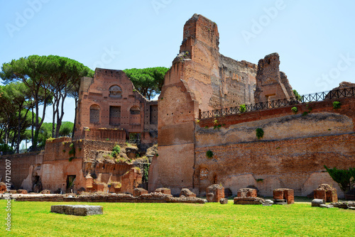Photo  Ancient roman ruins at the Palatine Hill, Rome, Italy.
