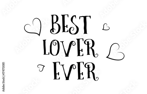 Best Lover Ever Love Quote Logo Greeting Card Poster Design Buy