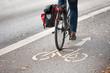 Fahrrad mit Packtasche