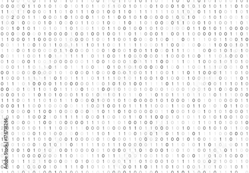 Fotografia Streaming binary code background vector illustration