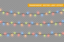 Christmas Lights Isolated Real...