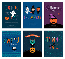 Cute Halloween Cards.