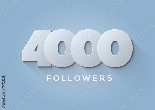 Fototapeta  Acknowledgment  4000 Followers