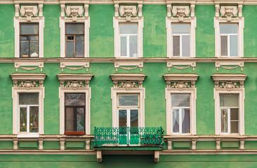 Panel Szklany Architektura Windows and balcony on facade of apartment building