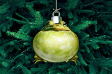 Christmas Frog Ornament