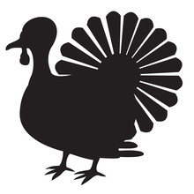Isolated Turkey Icon On A Whit...