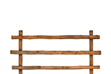 Brown Timber Fence Or Decorati...