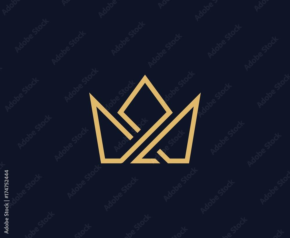 Fototapeta Crown logo