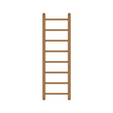 Wooden Ladder Icon- Vector Ill...
